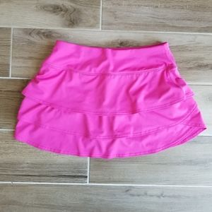 Athleta Pink Swagger Skort Layered